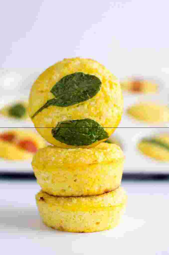 6. Simple Egg Muffins with Cauliflower and Cheese